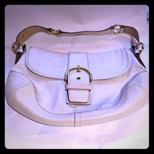 COACH Vintage Signature Soho Big Flap Hobo Bag